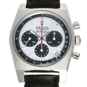 Zenith El Primero A384 50th Anniversary Men's Watch 03.A384.400 21.C815 Stainless Steel White Black Dial
