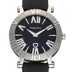 Tiffany Atlas Ladies Watch Z1301.11.11A10A41A Stainless Steel Black Roman Dial