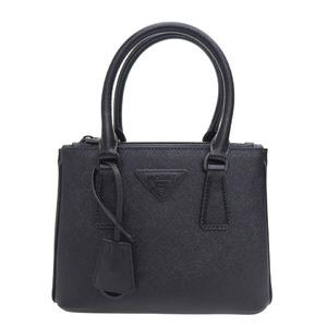 PRADA Prada Galleria Saffiano Leather Micro Bag 1BA906 Black