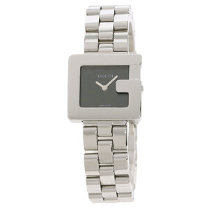 Gucci 3600L Square Face G Watch Stainless Steel Ladies