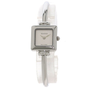 Gucci 1900L Square Face Bangle Watch Stainless Steel Ladies