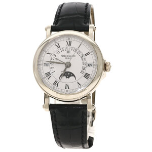 Patek Philippe 5059G Grand Complication Perpetual Calendar Watch K18 White Gold Leather Mens
