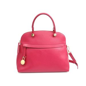 FURLA Piper M Hand bag Leather LAMPONEPink 834463