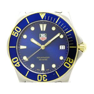 TAG HEUER Aquaracer Gold Plated Steel Mens Watch WAB1120