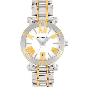 Tiffany TIFFANY & Co. Atlas Stainless Steel YG Combination Ladies Watch Automatic White Dial Z1300.68.16A20A00A