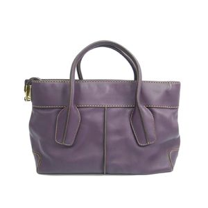 TODS D-Styling Shopping Media Hand bag Leather Purple