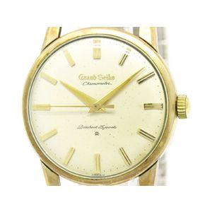 GRAND SEIKO グランドセイコー ファーストモデル クロノメーター K14 ゴールドプレート レザー 手巻き メンズ 時計