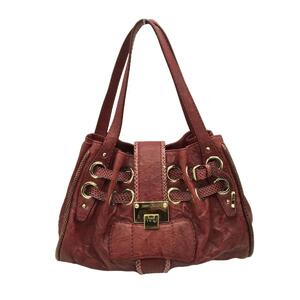 JIMMY CHOO Tote Bag Ladies Red Gold hardware Leather