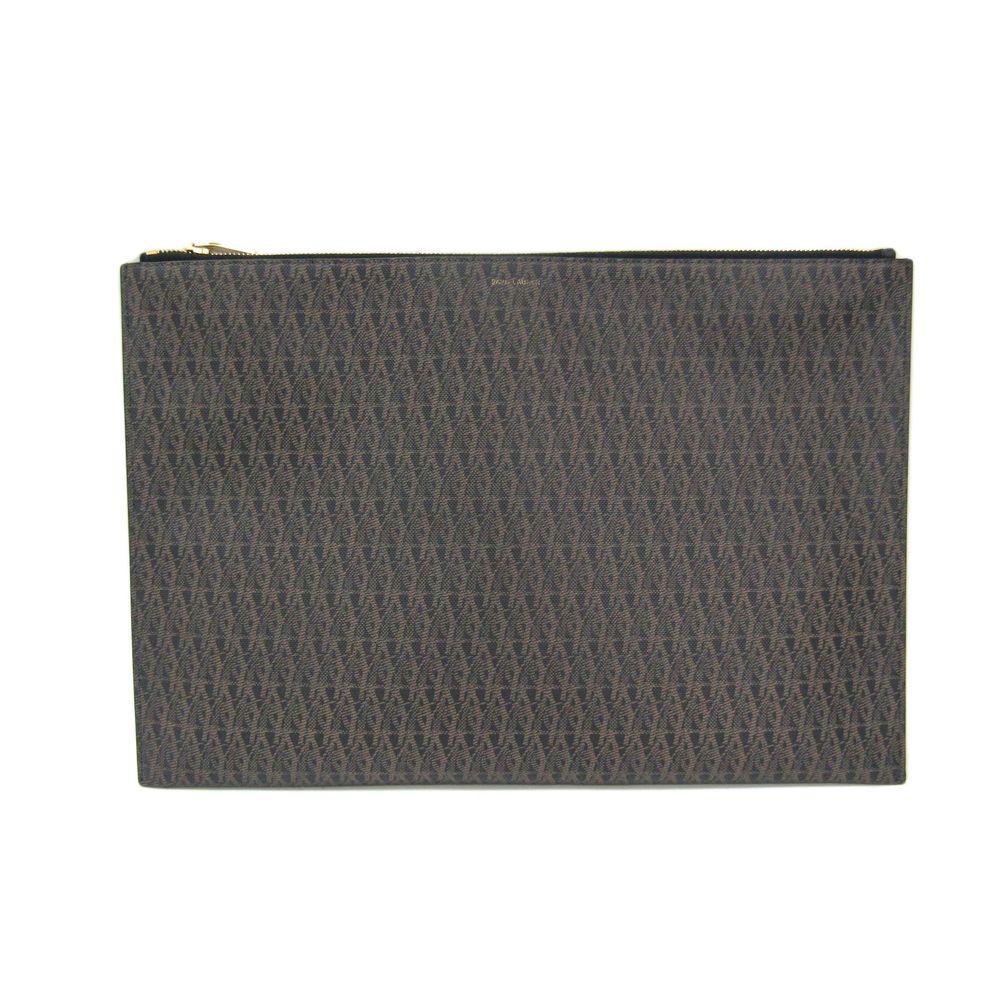 サン・ローラン(Saint Laurent) PVC クラッチバッグ ブラウン,ブラック