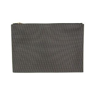 Saint Laurent Clutch Bag PVC Brown/Black 345277