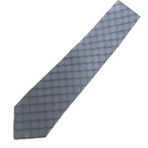 Gucci tie GG pattern logo 100% silk blue men