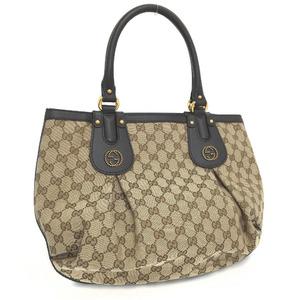 Gucci Tote Bag Scarlet 269953 GG Canvas Beige Ladies