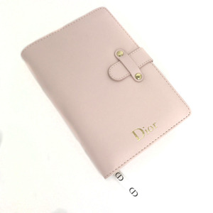 Christian Dior Notebook Cover Novelty Leather Pink Ladies