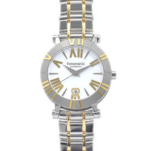 Tiffany Atlas Heart Date White Dial YG Stainless Steel Automatic Ladies Z1300.68.16A20A00A Watch