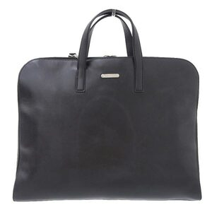 SAINT LAURENT Saint Laurent Paris Leather Business 2WAY Tote Bag Black