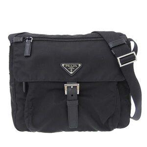 PRADA Prada Nylon Shoulder Bag Black BT8994 Leather