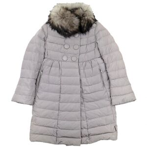 Moncler JOHAFUR Fur Down Coat Greige 1 Volume Color Flare