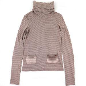 Chanel 05A Border Turtleneck Knit Sweater Brown 38 Ladies Cashmere Blend Coco Mark Matrasse Pocket