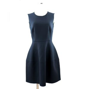 Dolce & Gabbana Sleeveless Tight Dress Ladies Black 40 Wool Flare