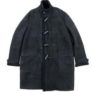 Bottega Veneta Mutton Duffle Coat Men's Black 52 Sheep Leather
