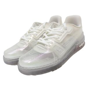 Louis Vuitton 20SS LV Trainer Line Sneakers Mens Clear White 6.5 Virgil Abloh 1A5YQV