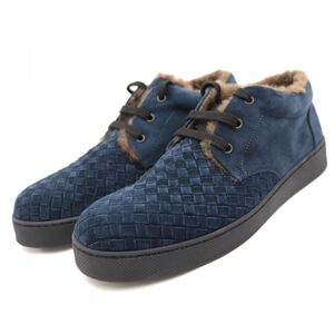 Bottega Veneta Intrecciato Suede Boa Sneakers Men's Navy 43