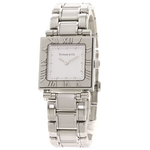 Tiffany Atlas Square Face Watch Stainless Steel Ladies