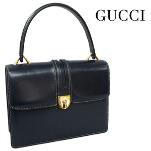 GUCCI Old Gucci Handbags Women's Vintage Turnlock Leather Gold Hardware