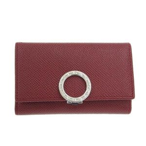 BVLGARI Bvlgari leather key case 6 consecutive red 33742