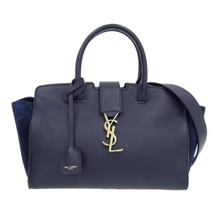 SAINT LAURENT Saint Laurent Paris Leather Downtown Kabas 2WAY Handbag Navy 436834 Bag