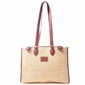 Hermes HERMES Clinolan Hippo Shoulder Bag Beige Red