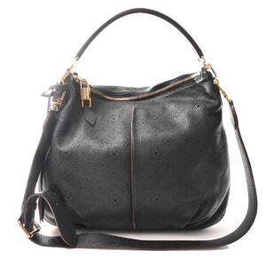 Louis Vuitton LOUIS VUITTON Mahina Selene PM Black Handbag Leather