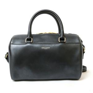 SAINT LAURENT shoulder bag handbag 2WAY baby duffle black ladies leather