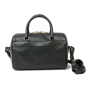 SAINT LAURENT shoulder bag handbag baby duffle black ladies leather