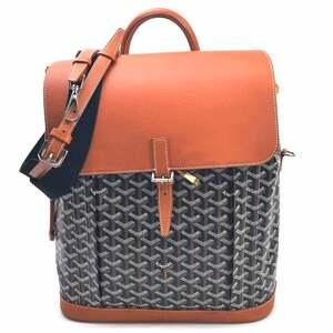 Goyard Backpack Handbag Shoulder Bag 3Way ALPIN Arpent Natural Black PVC Leather Women's Men's