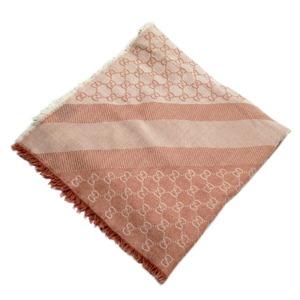 Gucci Stole GG Pink 80% Wool 20% Silk
