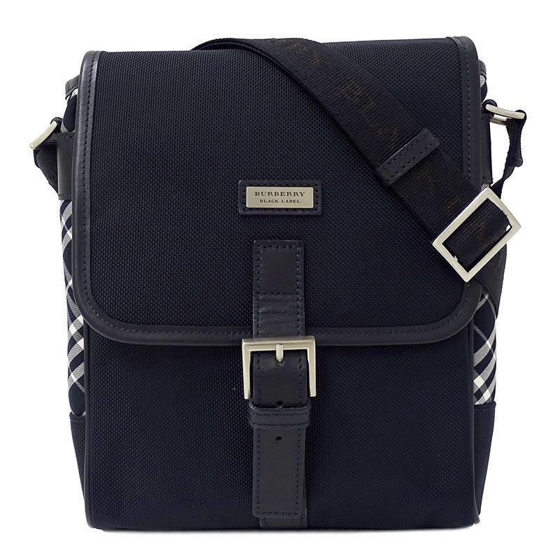 ◆ Burberry Black Label BURBERRY BLACK LABEL Shoulder Bag Canvas Navy Unisex