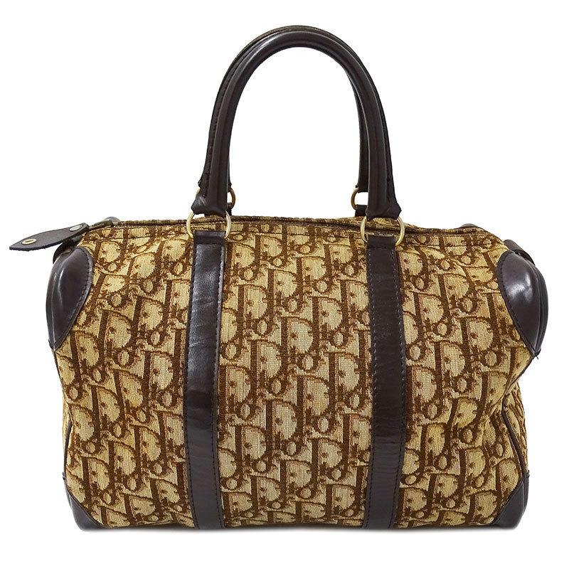 ◆ Christian Dior Trotter Mini Boston Bag Handbag Canvas Brown Ladies