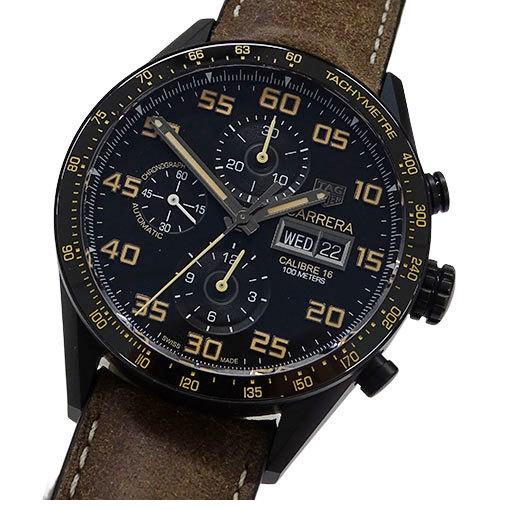 ◆ TAG Heuer watch CV2A84 FC6394 Carrera caliber 16 chronograph self-winding AT men's back scale