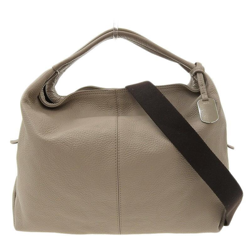 ◆ Furla FURLA 2way bag leather beige