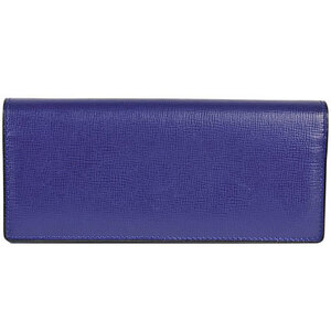 Valextra Long wallet with coin purse 8 cards Blue leather V8L42
