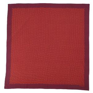 Gucci 100% silk large format scarf G logo stall ladies total pattern Bordeaux burgundy