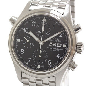 IWC Men's Watch Doppel Chronograph IW371319 Black Dial Automatic