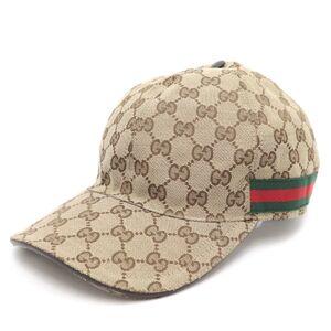 Gucci Original GG Canvas Baseball Cap Men's Brown XL Sherry Line Kelling Tag
