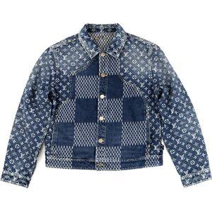 Louis Vuitton 20SS Wave Giant Damier Monogram Denim Jacket 50 Men's Indigo