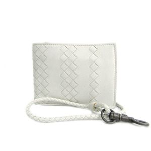 BOTTEGA VENETA Bifold Wallet Intrecciato Leather White 193632