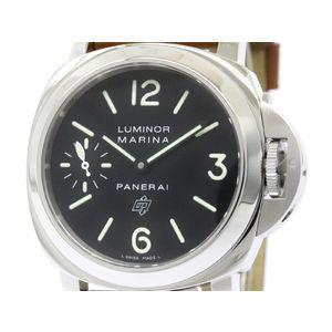 PANERAI パネライ ルミノール マリーナ ロゴ ステンレススチール レザー 手巻き メンズ 時計