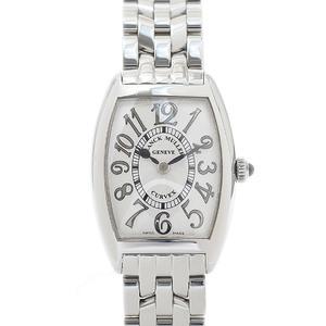 Franck Muller Tonneau Carbex Ladies Silver Relief Dial Stainless Steel Quartz 1752QZREL Watch