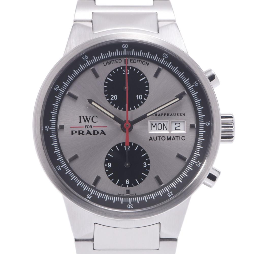 IWC SCHAFFHAUSEN Schaffhausen PRADA GST Chrono World Limited 2000 IW370802 Men's Stainless Steel Wrist Watch Automatic Silver Dial