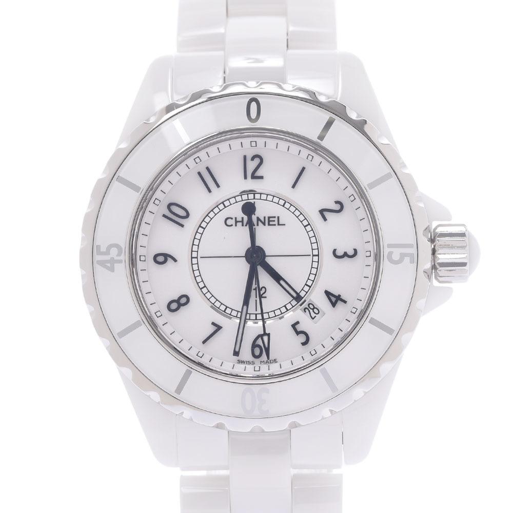 CHANEL J12 33mm H0968 Ladies White Ceramic Stainless Steel Watch Quartz Dial